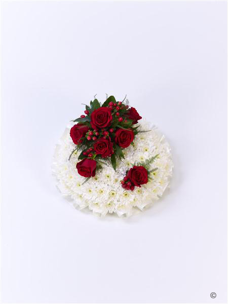 Classic Red and White Posy